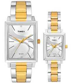 Timex Stylish Silver Dial Watch With Golden & Silver Metallic Strap For Men And Women Square Watch, Men And Women, Watches For Men, Metallic, Stylish, Silver, Stuff To Buy, Accessories, Men's Watches