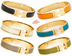 Hermes bracelets ~These would be great to layer as arm candy this summer! Hermes H Bracelet, Bracelet Hermès, Hermes Jewelry, Bijou Box, Fashion Accessories, Fashion Jewelry, Diamond Are A Girls Best Friend, Bangles, Bracelets