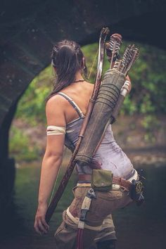 Recurve Bow for Lara Croft Tomb Raider Cosplay Tomb Raider Cosplay, Tomb Raider Lara Croft, Archery Girl, Archery Bows, Archery Hunting, Deer Hunting, Armas Wallpaper, Lara Croft Cosplay, Rise Of The Tomb