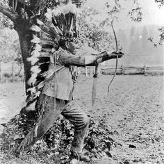 John Poncee, (the husband of Lillie Tyee-Jim-Poncee), during the Siletz Indian Fair in Siletz, Oregon - Siletz (Takelma Band) - 1918