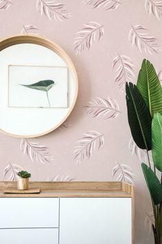 #peelandstick #wallpaper #adhesivedecor #adhesiveproducts #temporaryhomeupgrades #temporaryupgrades #rentershacks #rentersideas #homedecorideas #diyprojects #removablewallpaper Leaves Wallpaper, Home Safes, Weaving Textiles, Home Upgrades, Pink Design, Pattern Wallpaper, Diy Projects, Fancy, Boho