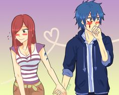 So cute Jerza Fairy Tail Gruvia, Fairy Tail Ships, Fairy Tail Anime, Erza Y Jellal, Jerza, Nalu, Fairytail, Erza Scarlet, I Love Anime
