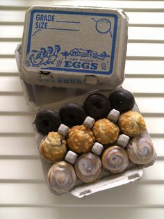 Vintage Style Egg Cartons used for a breakfast party! Vintage Style, Vintage Fashion, Egg Cartons, Confetti, Stuffed Mushrooms, How To Memorize Things, Party Ideas, Sugar, Make It Yourself