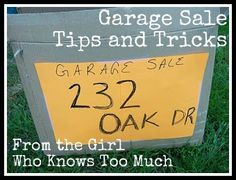 Garage Sale tips