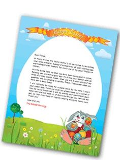 Free Customized Letter From The Easter Bunny