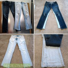 old jeans into skinny jeans