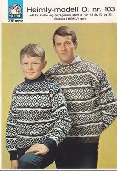 Alf 103 Hand Knitting, Knitting Patterns, Men Sweater, Men Casual, Shirt Dress, Sweaters, Mens Tops, Fashion, Threading