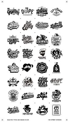 Recent selected types and images in B/W on Behance