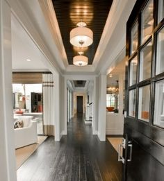 sooo chic!  http://dwellerswithoutdecorators.blogspot.com/2012/02/black-painted-ceiling-total-impact.html