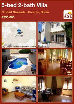 5-bed 2-bath Villa in Ciudad Quesada, Alicante, Spain ►€250,000 #PropertyForSaleInSpain