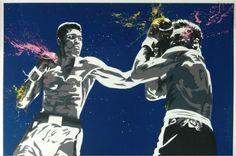 Hierbei handelt es sich um einen großformatigen, handsignierten und per Hand veredelten Pop Art Siebdruck des bekannten Urban Art Künstlers Mr. Brainwash.    Abmessungen: 152cm x 101cm  Material: Siebdruck und Acrylfarbe auf Papier