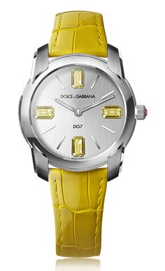 Women's Watch DG7 - Steel with Gemstones Citrines  - D&G Watches