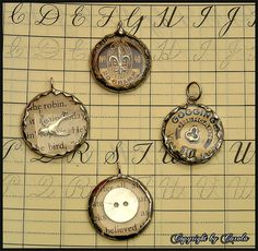 Soldered watch crystal charms
