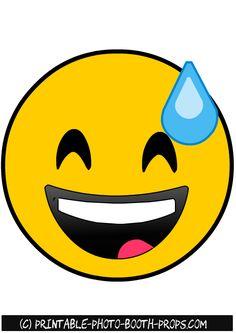 Happy Emoji Photo Booth Prop
