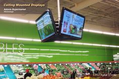 @MarcheAdonis Incredible #Ceiling #Mounted #Digital #Displays #Mississauga #Signage #Supermarket #Grocery #Retail #Chain #Advertisement #Promote #Sales