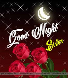 Good Night Image For Sister Lovely Good Night, Beautiful Good Night Images, Good Evening Wishes, Night Wishes, Goodnight Quotes For Her, Good Morning Sister, Sisters Images, Good Night Blessings, Night Prayer