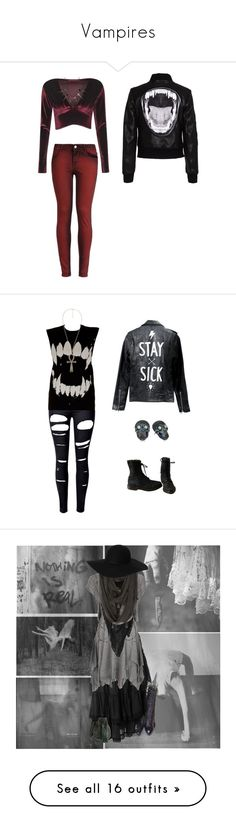 """""""Vampires"""" by mxbatfiend ❤ liked on Polyvore featuring goth, vampire, stregafashion, strega, home, home decor, wall art, black white wall art, black white home decor and photo wall art"""