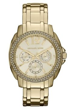 Michael Kors Women's 'Cameron' Round Gold Bracelet Watch - MK5691 *** Click image to review more details.