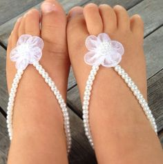 Baby barefoot sandals baby shoes baby girl  infant by Aupetitpied, $22.00