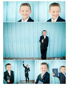 """""""It's Great to be 8""""  lds baptism photos. This boy is just the cutest."""