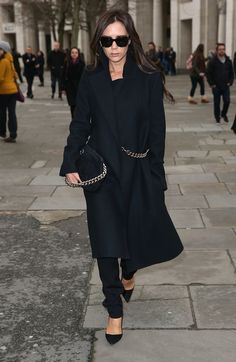 a sombre but incredibly chic VictoriaBeckham. London.