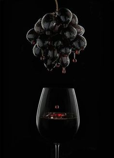 Charming black grapes.