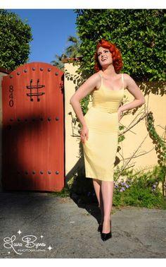 Jayne Dress in Pastel Yellow