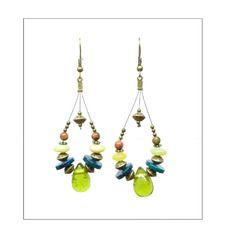 Boucles d'oreille créoles boho ¤ olivia ¤ boucles d'oreille créoles perles multicolores