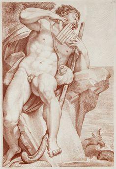 Sergel, Johan Tobias: Polyfemos soittaa Pan-huilua (1755-1814)