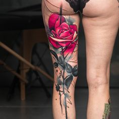 Pink Rose Back of Leg Piece