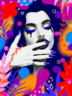 Vibrant Collage Artworks by Andreea Robescu - Inspiration Grid Shape Collage, Collage Artwork, Collage Design, Design Art, Grid Design, Graphic Artwork, Makeup Illustration, Photo Illustration, Flower Power