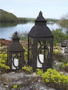 Lantern love... our Rusty Metal Lanterns are back in stock and perfect for indoors or out :)