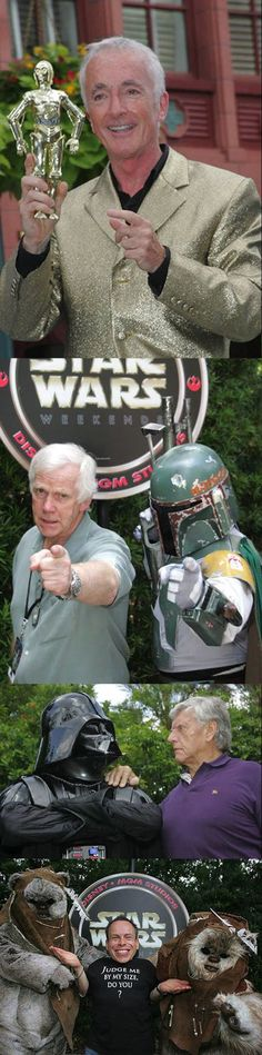 Some of the actors from Star Wars next to the characters they played…: