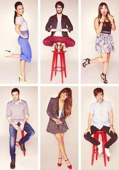 Naya, Darren, Jenna, Cory, Lea, and Kevin