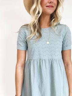 Blue Summer Linen Dress | ROOLEE