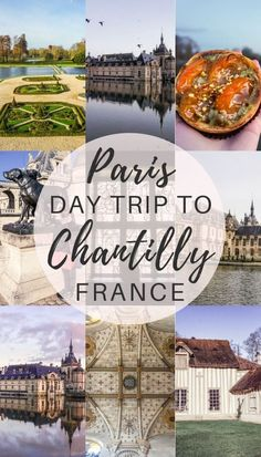 Day trip from Paris to Chantilly, France: château de Chantilly, forest, hameau and food! Travel in Europe.