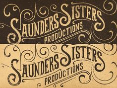 Saunders Sister Productions, Brand Concept - Hand Drawn Type by Jonathan Schubert