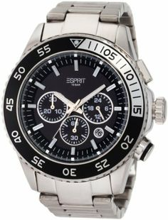 ESPRIT Men's ES103621007 Varic Chronograph Watch Esprit. $126.00. Water-resistant to 330 feet (100 M). Durable mineral crystal protects watch from scratches. Quartz movement. Chronograph watch. Stainless steel case backing. Save 30% Off!