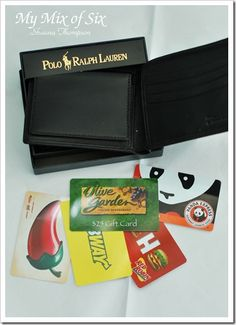 Get your husband a new wallet and filled it with gift cards. Maybe a good gift for any holiday or anniversary