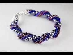 Seed bead jewelry Russian Spiral brick stitch bracelet Part 1 or 2 ~ Seed Bead Tutorials Discovred by : Linda Linebaugh Beaded Necklace Patterns, Bracelet Patterns, Diy Jewelry Tutorials, Beading Tutorials, Seed Bead Jewelry, Beaded Jewelry, Gemstone Jewelry, Paper Quilling Jewelry, Beaded Braclets