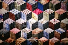 Patchwork quilts out of old T-shirts
