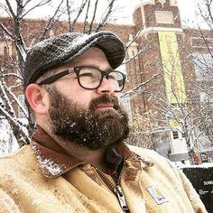 "Tyler Jacobs on Instagram: ""IT'S SNOWING!! A lot! . #sundancefilmfestival #Sundance #parkcity #librarytheater #snow #winter #blizzard #beard #snowbeard #carhartt"" Hairy Men, Bearded Men, Beard Head, Carhartt Jacket, Beard Lover, Sundance Film Festival, Awesome Beards, Mens Glasses, Park City"