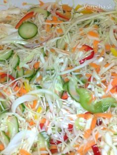 Čalamáda ktorú ľúbime - recept | Varecha.sk Preserves, Pickles, Cabbage, Grains, Food And Drink, Canning, Vegetables, Kitchen, Haha