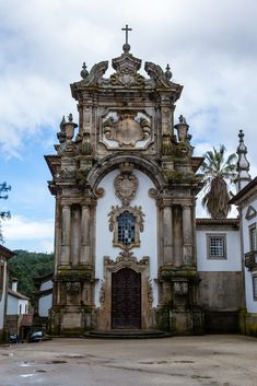 Beautiful main entrance of the Palace Casa de Mateus, Vila Real, Portugal