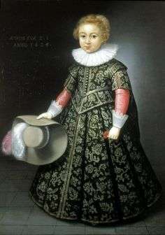 Wybrand de Geest (attr.) A portrait of a boy, 1624 - Formerly in London, with Rafael Valls Gallery, Jean Moust