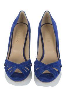 Escarpins ajourés bleu royale by PABLO