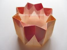 #origami #octagon shaped #container