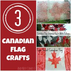 Three Canadian flag crafts for toddlers and preschoolers. Craft Activities For Kids, Preschool Crafts, Toddler Activities, Kids Crafts, Summer Crafts For Kids, Summer Kids, Toddler Crafts, Toddler Play, Canada Day Crafts