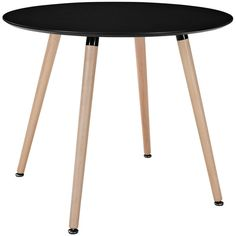 Modway Furniture Tempera Circular Dining Table In Black Eei-1055-blk ($160) ❤ liked on Polyvore featuring home, furniture, tables, dining tables, kitchen & dining room tables, round table, circular dining table, round dining table, black kitchen table i black furniture