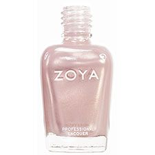 Zoya Nail Polish in Buffy - Pearly warm champagne blonde with subtle pink duochrome and frosty silver shimmer.